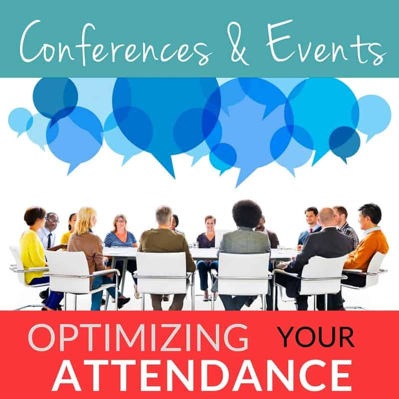 Optimizing your conference attendance