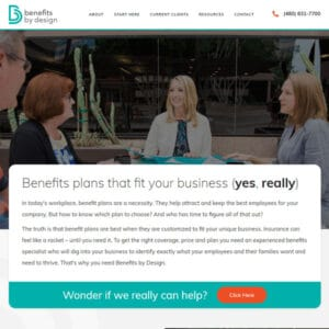 Benefits by Design Strategy Design Brand Site Build