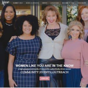 The Know Women website work