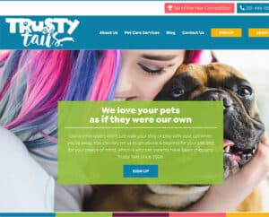 Trusty Tails SEO website and branding