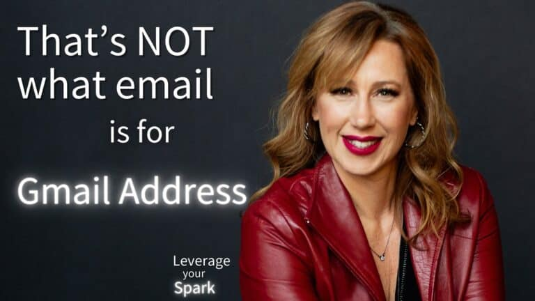 That's NOT what email is for: Unless you work for Google, don't use a Gmail address