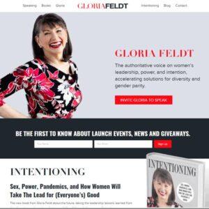 Gloria Feldt website by FieryFX